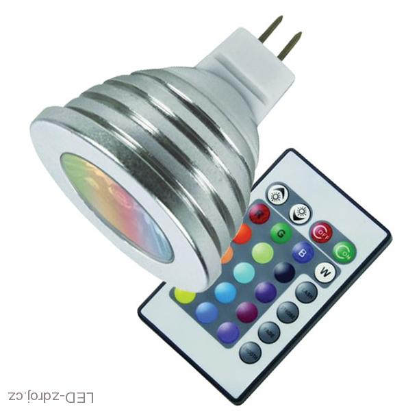 LED žárovka RGB MR16 12V 3W