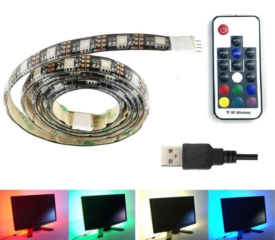 Light LED pásek 5V USB SMD5050 30LED/1m, voděodolný, RGB, 1metr 17-DO
