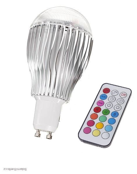 RGB LED žárovka GU10 5W color + dálk.ovl.