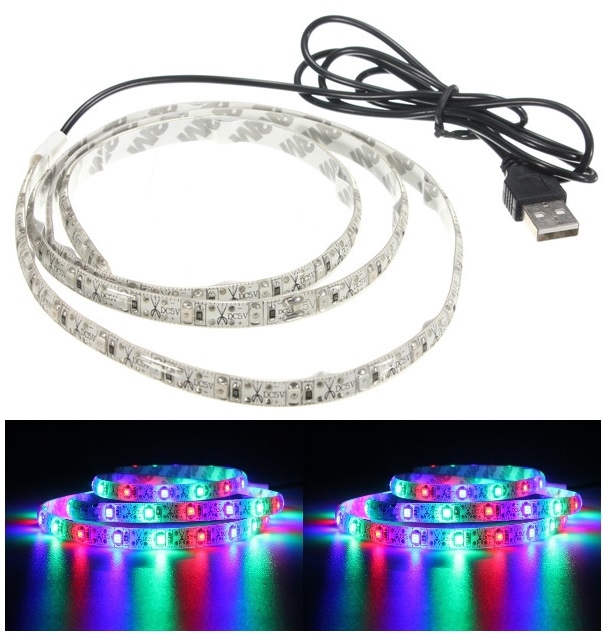 Light LED pásek do USB SMD3528 120LED/2m IP20 RGB, 2metry
